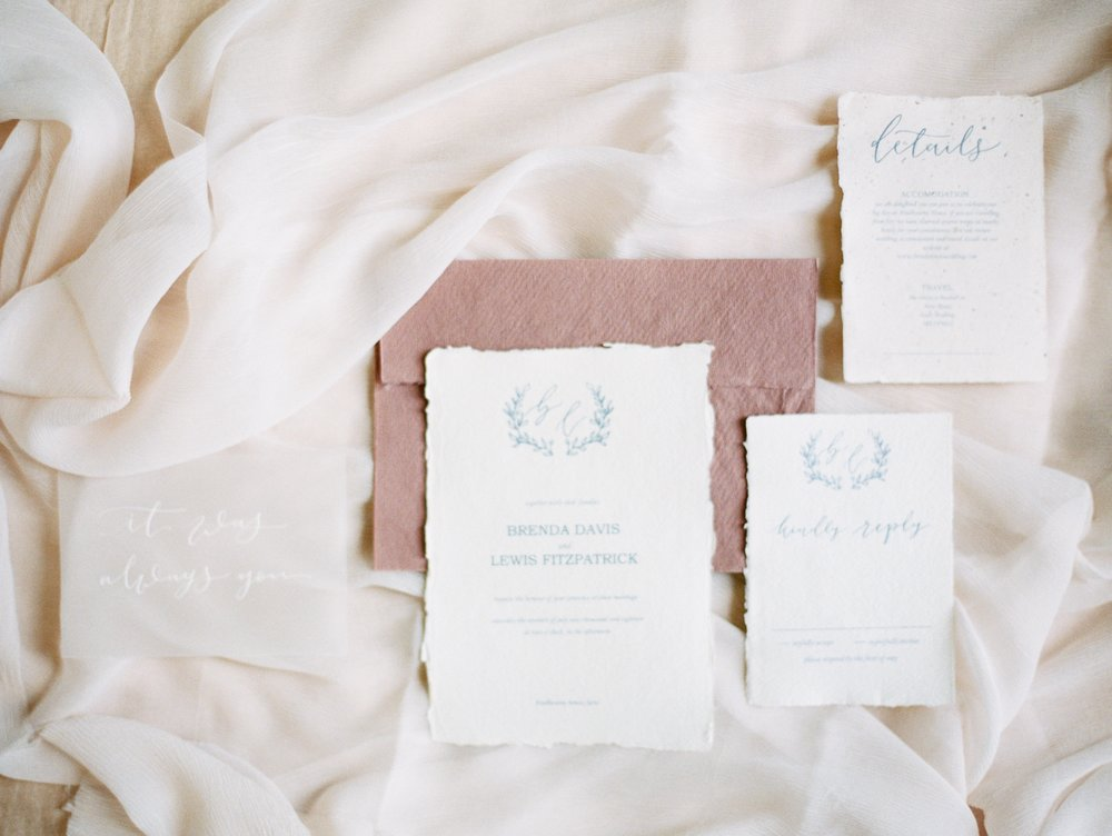 The Timeless Stylist-Fine Art Wedding Stationery Suite