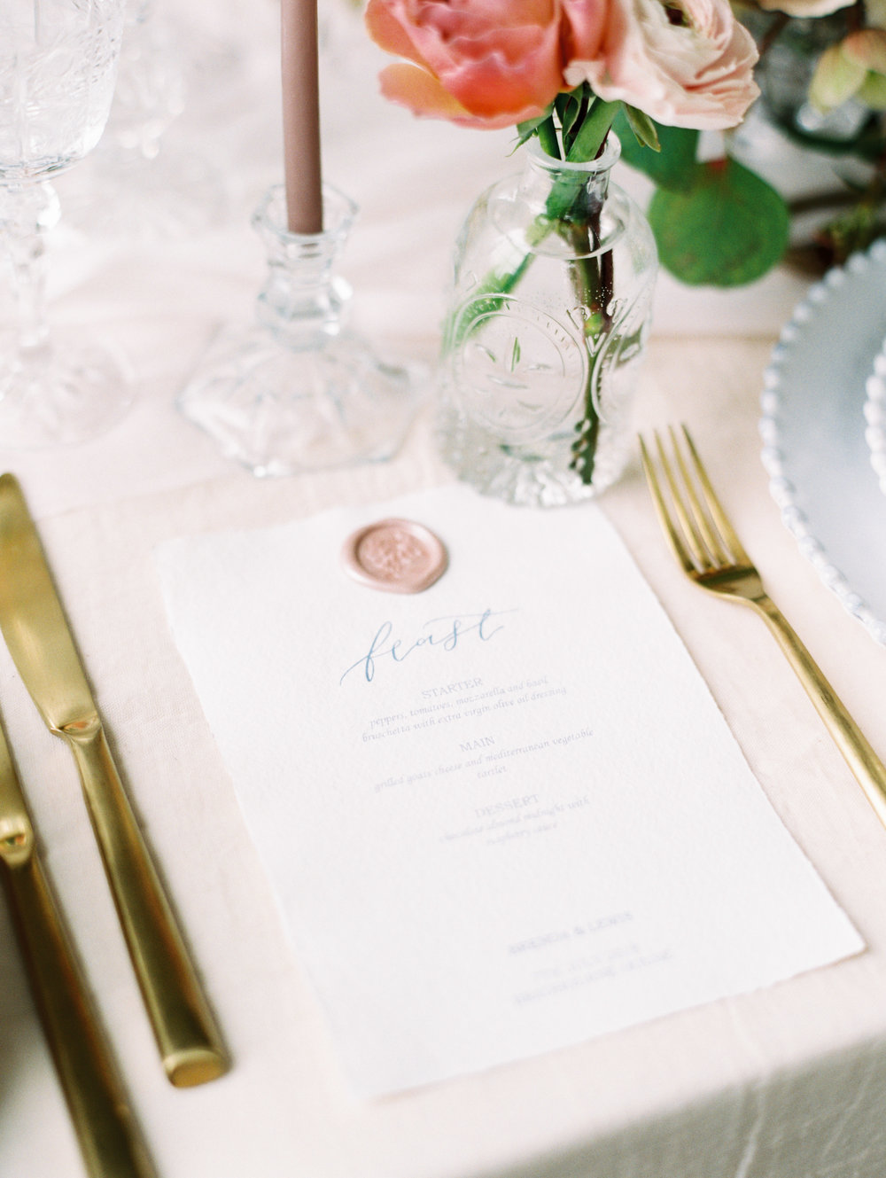 The Timeless Stylist-Elegant and Romantic Wedding Styling-Cut Glass Tableware and Fine Art Wedding Stationery