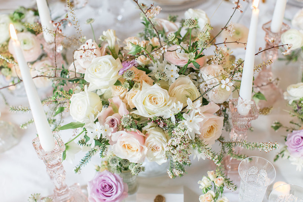 The Timeless Stylist-Elegant and Romantic Wedding Styling-Spring Flowers