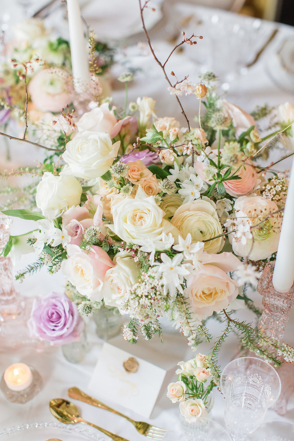 The Timeless Stylist-Elegant and Romantic Wedding Styling-Spring Pastel Flowers