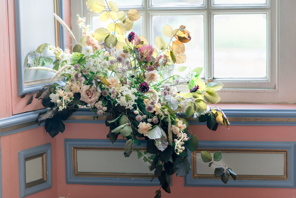 The Timeless Stylist-Elegant and Romantic Wedding Styling-Autumn Window Wedding Flowers