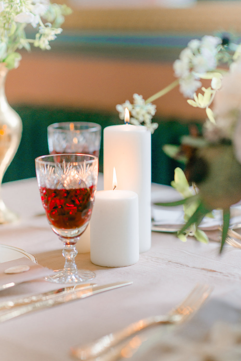 The Timeless Stylist-Elegant and Romantic Dinner Party Styling-Autumn Red Wine and Candles