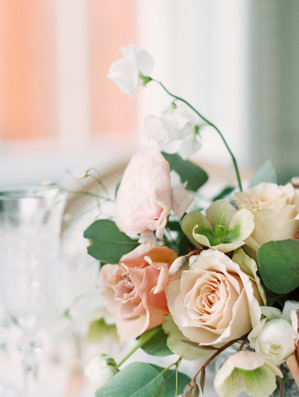The Timeless Stylist-Elegant and Romantic Wedding Design and Styling-Peach Wedding Flowers