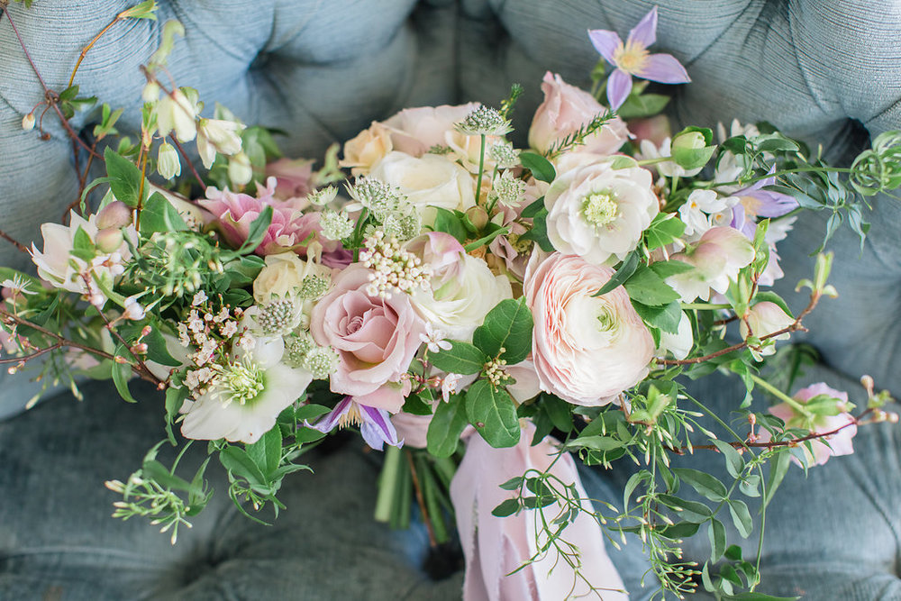 The Timeless Stylist-Elegant and Romantic Wedding Styling-Spring Wedding Bouquet Hedsor House