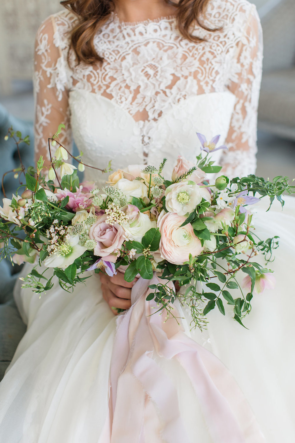 The Timeless Stylist-Elegant and Romantic Wedding Styling-Pastel Spring Wedding Bouquet