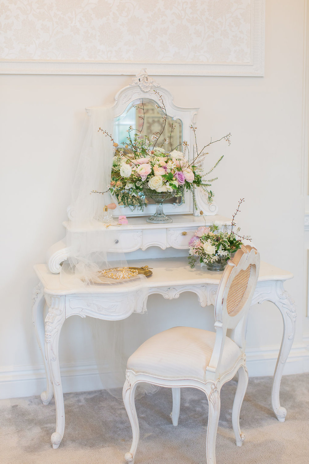 The Timeless Stylist-Elegant and Romantic Wedding Styling-Wedding Dressing Table