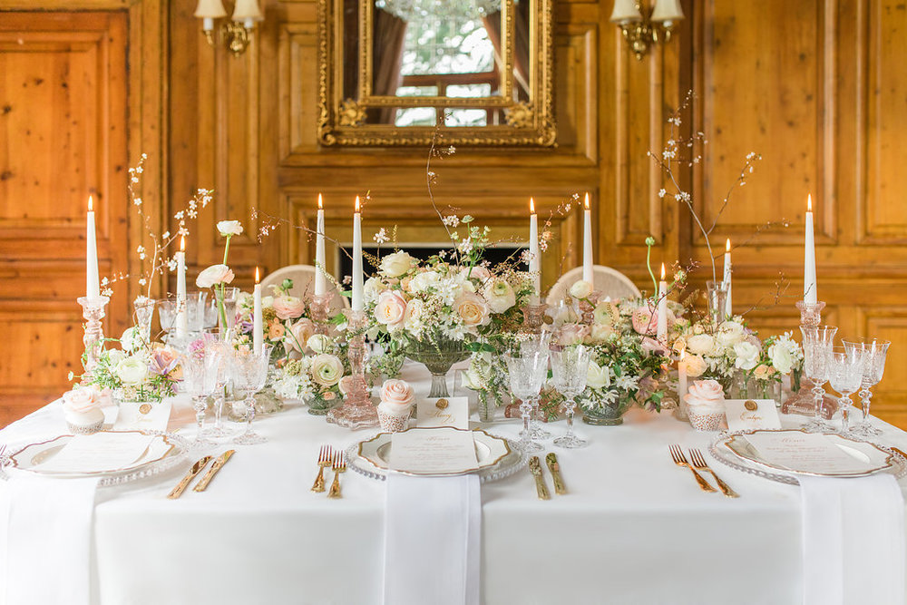 The Timeless Stylist-Elegant and Romantic Wedding Styling-Spring Wedding Tablescape