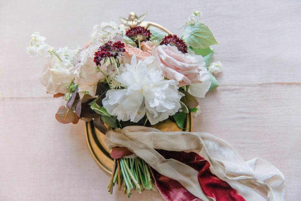 The Timeless Stylist-Elegant and Romantic Wedding Styling-Dusky Pink Silk Ribbons