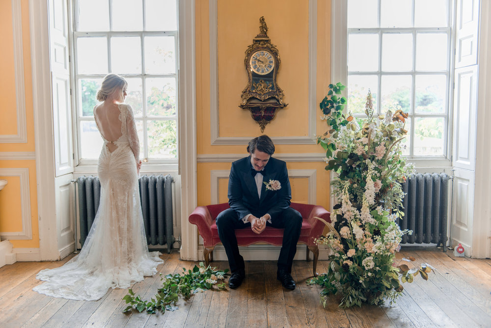 The Timeless Stylist-Elegant and Romantic Wedding Styling-Wedding Ceremony Floral Installation