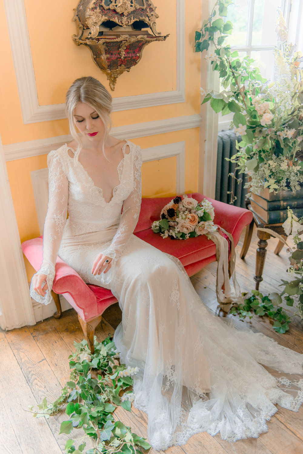 The Timeless Stylist-Elegant and Romantic Wedding Styling-Bride Waiting for Her Groom