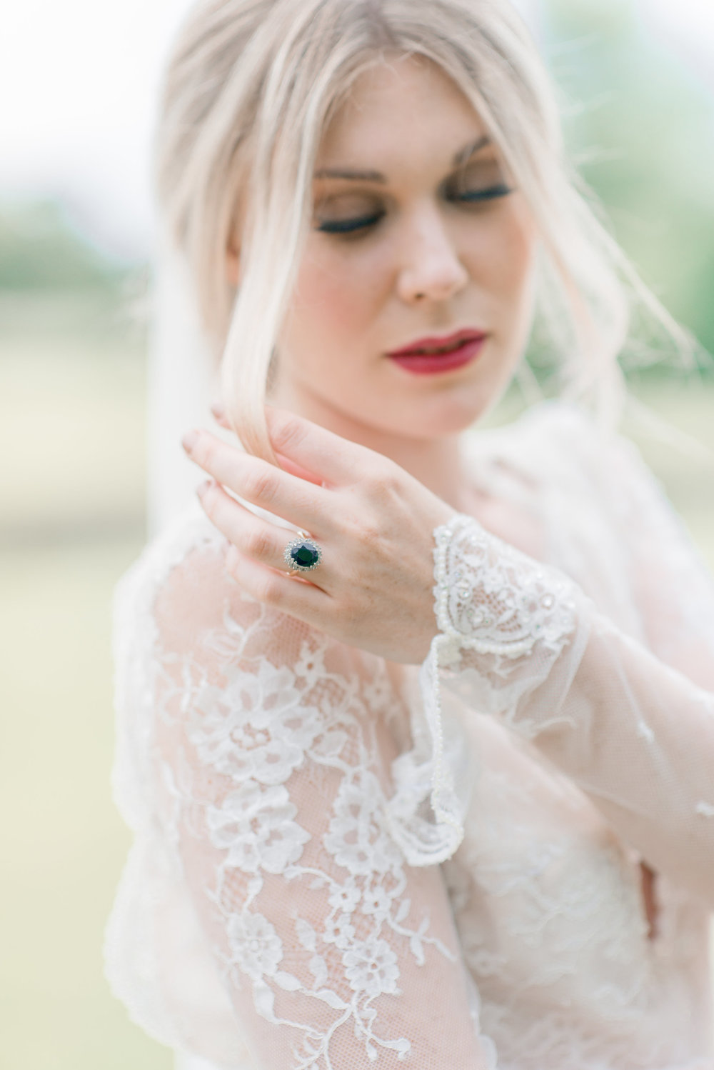 The Timeless Stylist-Elegant and Romantic Wedding Styling-Red Lipstick Wedding Makeup
