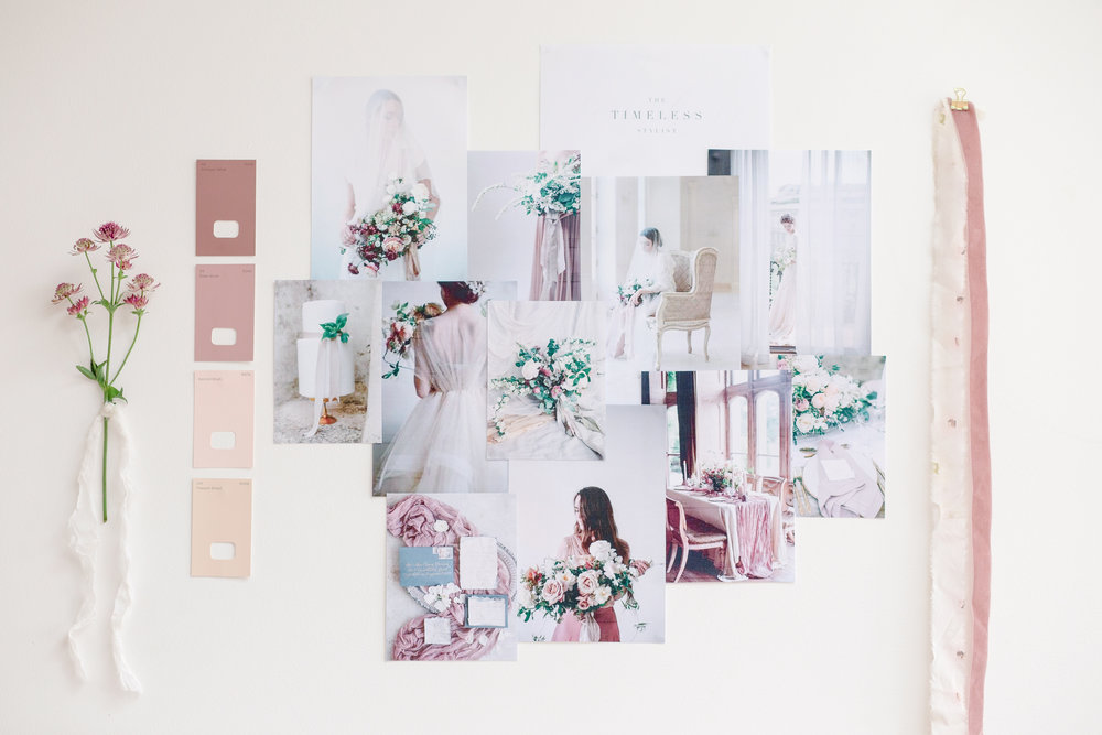The Timeless Stylist-Elegant and Romantic Wedding Styling-Fine Art Wedding Moodboard