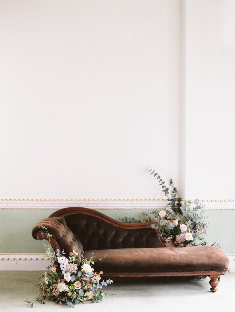The Timeless Stylist-Elegant and Romantic Wedding Styling-Wedding Floral Installation on Chaise.jpg