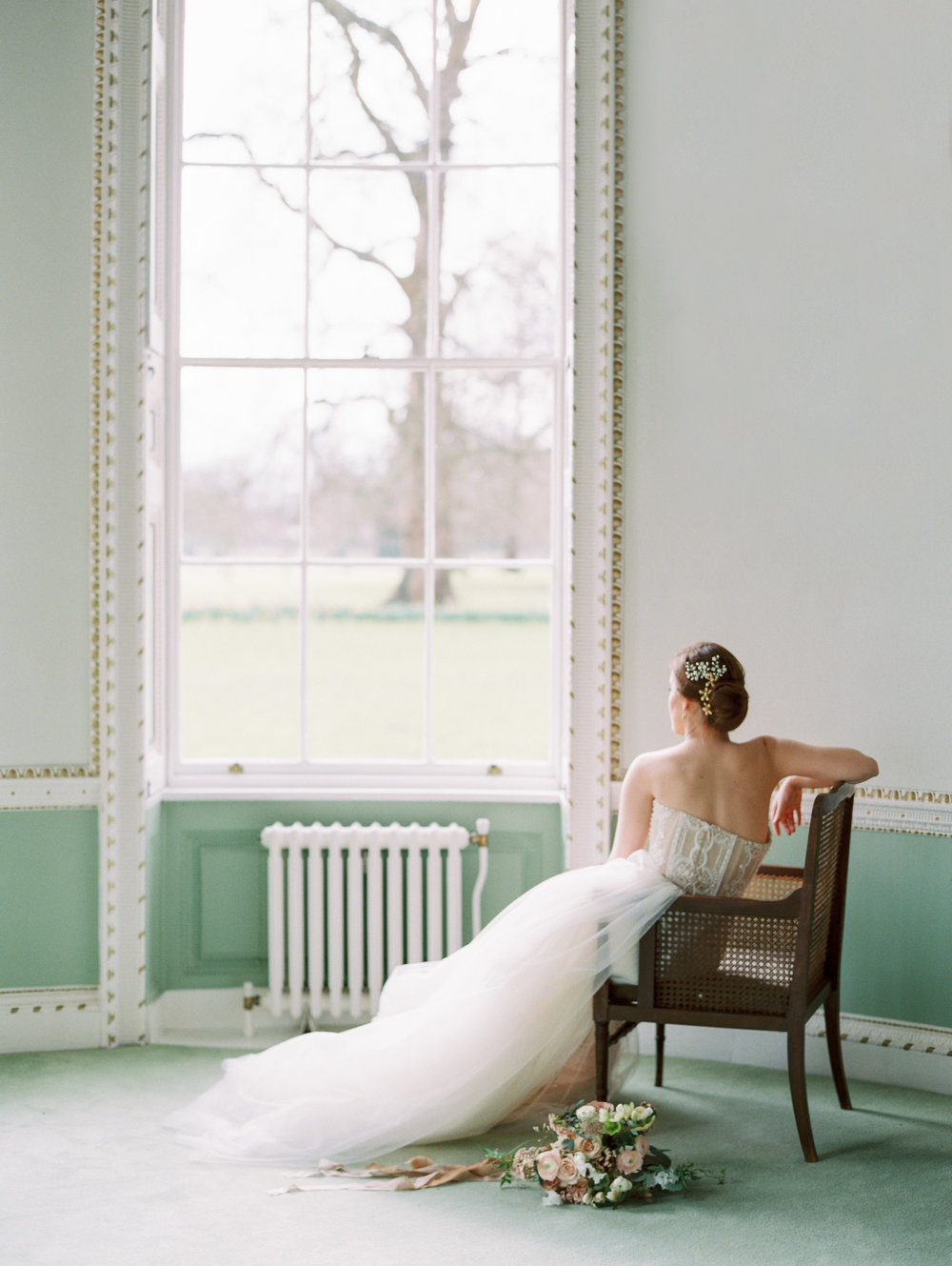 The Timeless Stylist-Elegant and Romantic Wedding Styling-Bride in Stately Home Wedding Venue.jpg