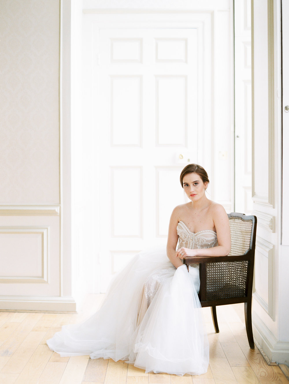 The Timeless Stylist-Elegant and Romantic Wedding Styling-Fine Art Editorial Wedding Shoot-Bride on Antique Chair.jpg