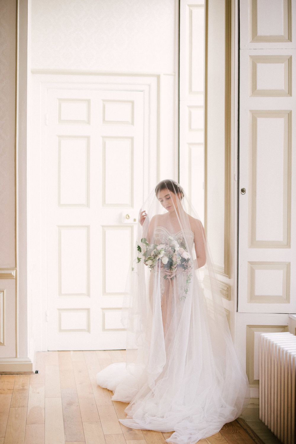 The Timeless Stylist-Elegant and Romantic Wedding Styling-Fine Art Bride-Bouquet under Veil.jpg
