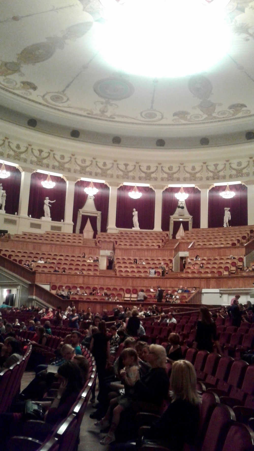 Inside view of the Novosibirsk Opera and Ballet Theatre.