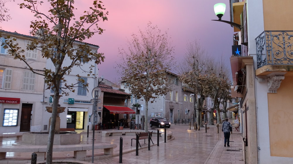 Downtown Cassis in the evening.