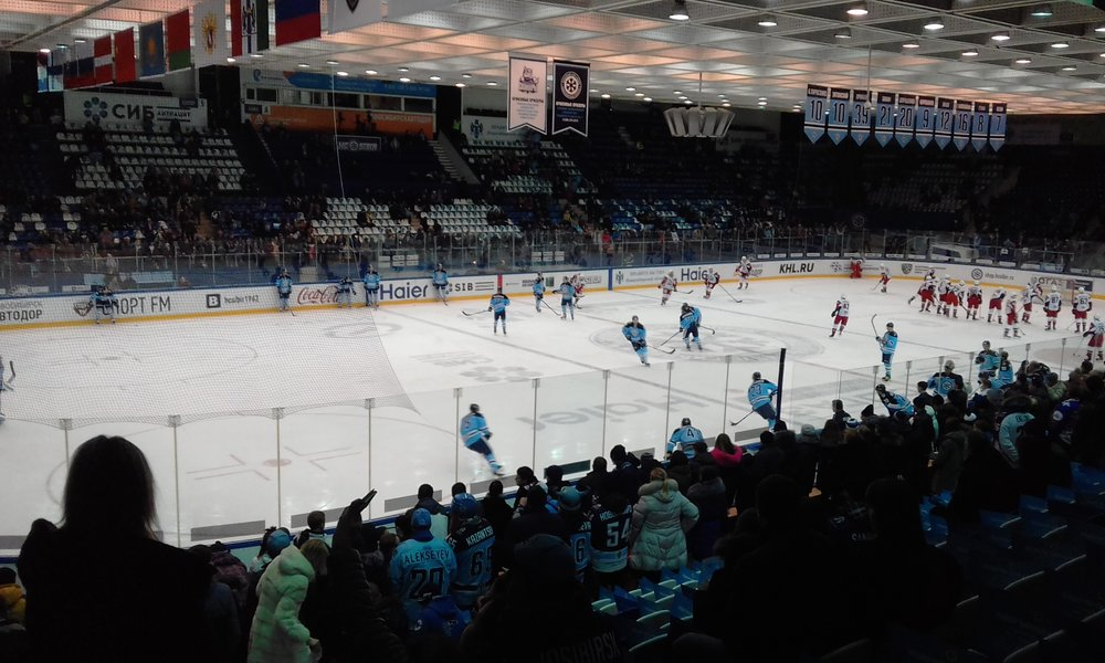 Hockey at the Novosibirsk Ice Palace.