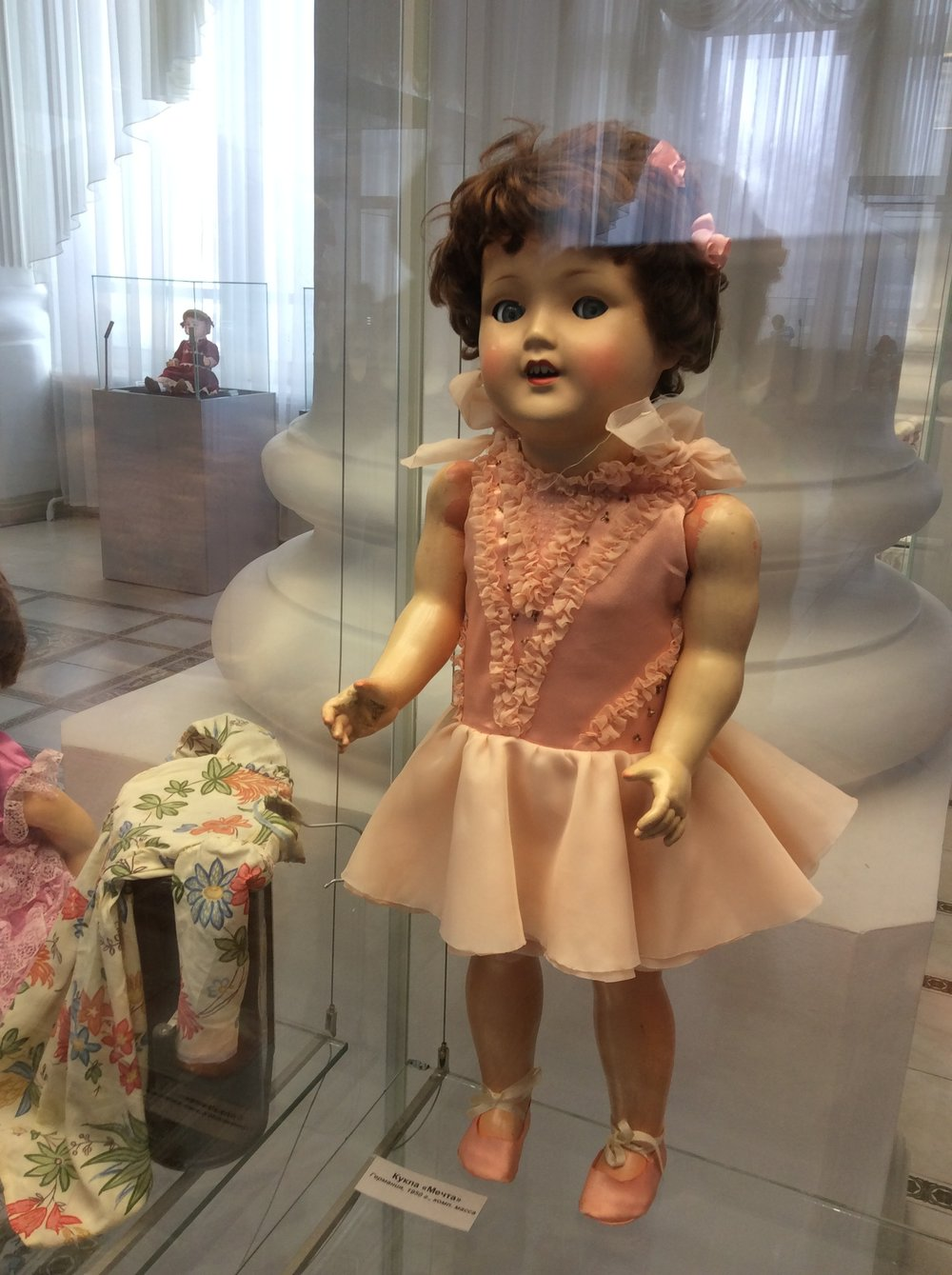 Speaking of feats of strength, this Soviet-era doll currently on display at the Novosibirsk Regional Museum seems to have followed Barry Bonds' diet a little too closely.