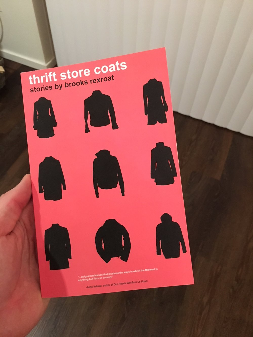 Physical copies of Thrift Store Coats have arrived at the Seattle offices of Orson's Publishing.