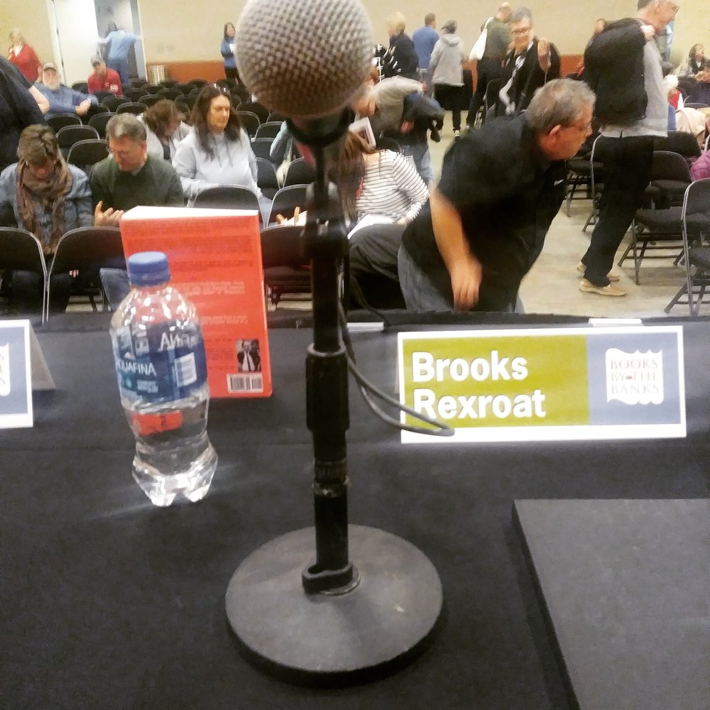 View from the Books by the Banks dais, pre-panel.