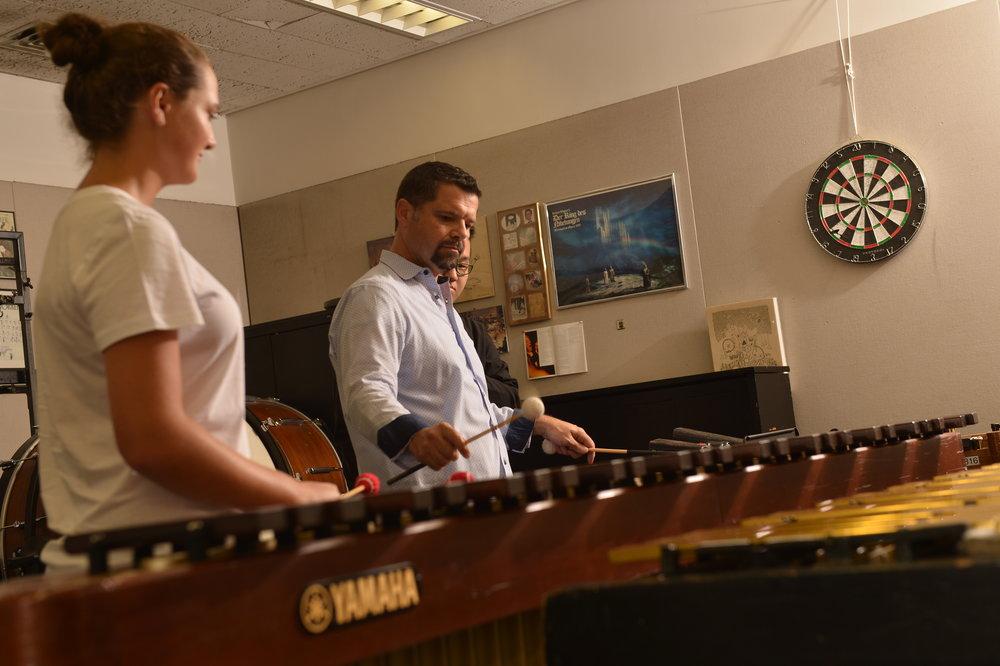 Teaching at Juilliard. Photo by Rob Shanahan for Yamaha Corporation of America