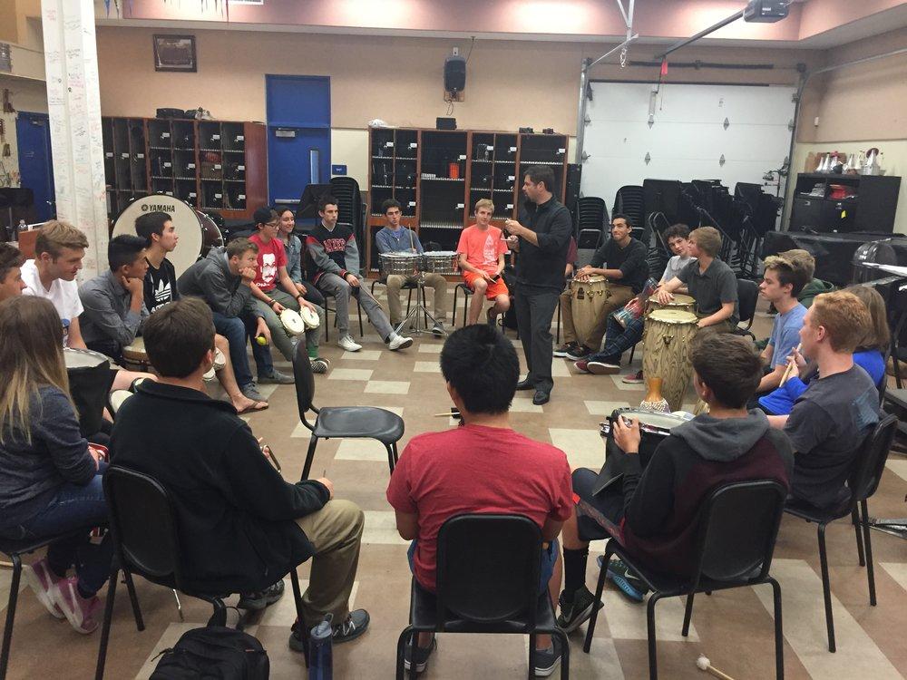 Westlake HS hand drumming class.JPG