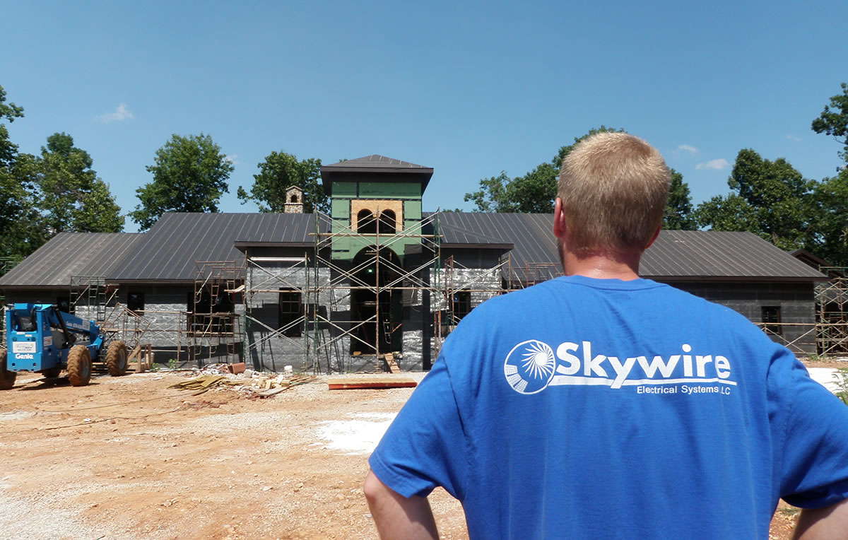 Residential Electrician Commercial Electrical Services Skywire Wiring Systems Job Site