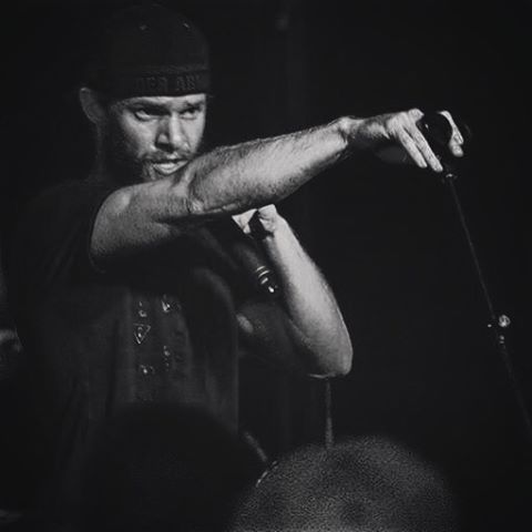Was I resting my arm, or striking a pose? I guess we'll never know... #strikeapose #music #singer #blackandwhite #beard #blurry