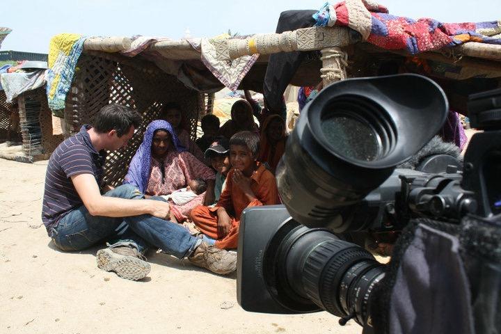 Jonathan Samuels reporting on floods in Pakistan