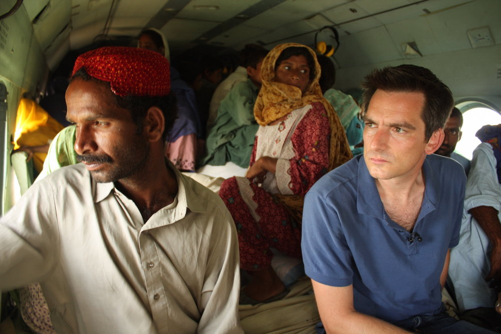 Jonathan Samuels reporting on flooding in Pakistan