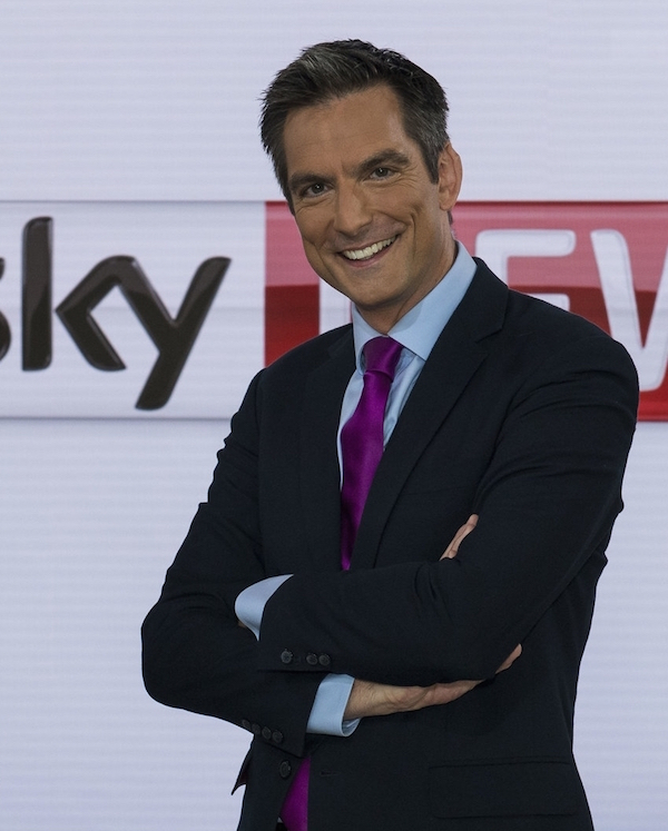 Jonathan today, presenting Sky's Sunrise programme