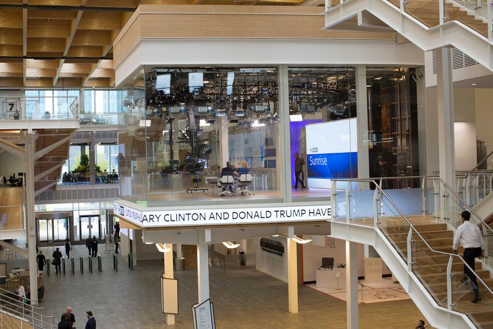 The Sky News studio