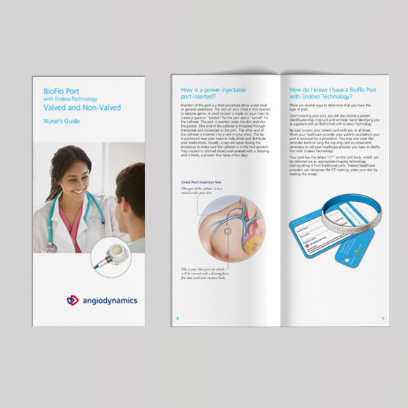 Bioflo port collateral, nurses guide and patient guide