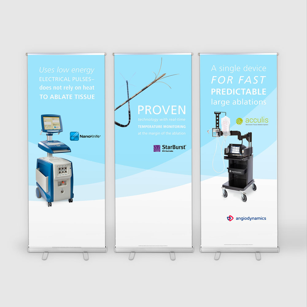 3 pull-up banners for the oncology surgery franchise