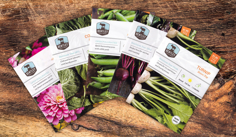 seed packet redesign. photo selection, layout & production