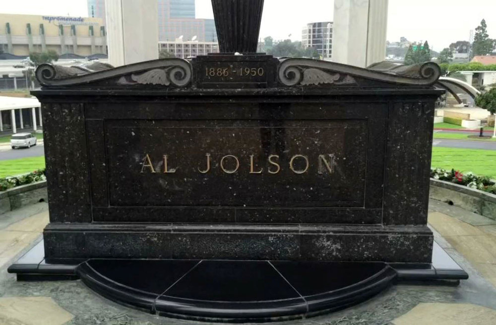 in the cemetery where al jolson is buried