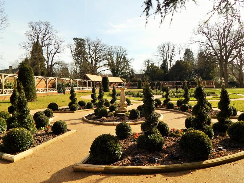 Restored formal gardens at Worth Park, Crawley - image courtesy Heritage Lottery Fund