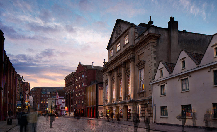 We helped Bristol Old Vic raise £2.4M of HLF funding to restore the building's remarkable heritage theatre spaces and to set the stage for the future with a new extension.  Image courtesy Haworth Tomkins.