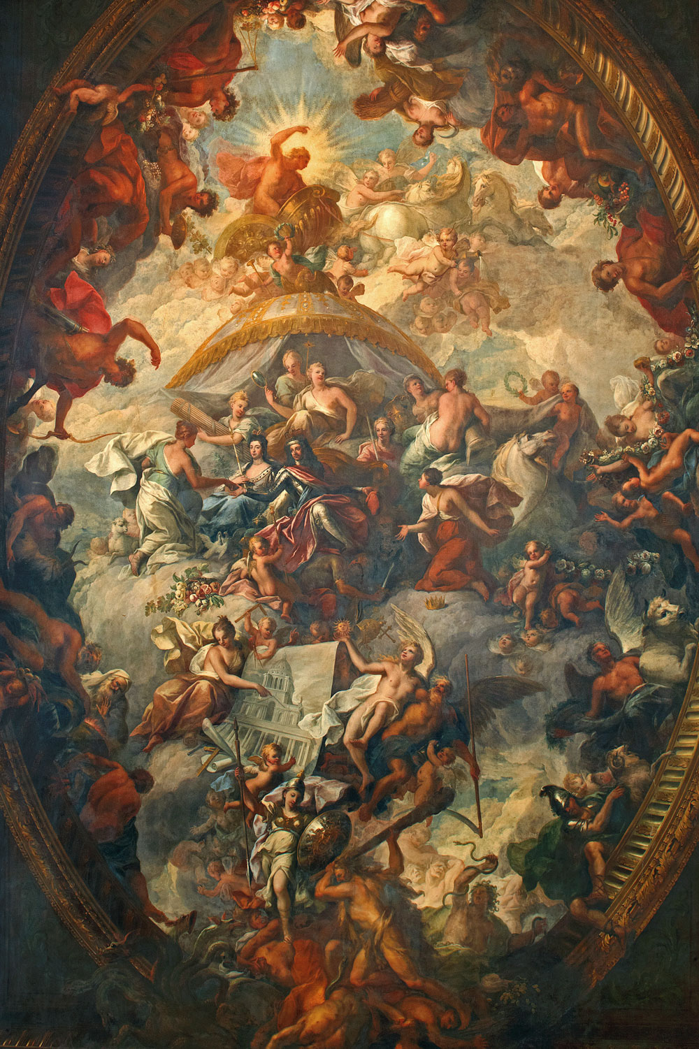 Ceiling of the Painted Hall – © ORNC and Jigsaw Design& Publishing, 2013