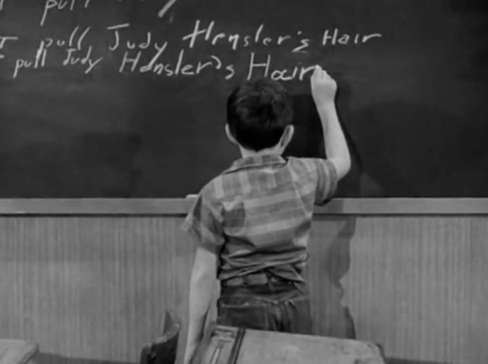Classic chalkboard punishment