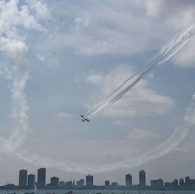 Air and water show and a perfect day