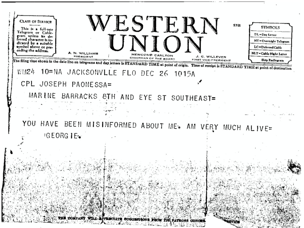 The Paonessa Telegram