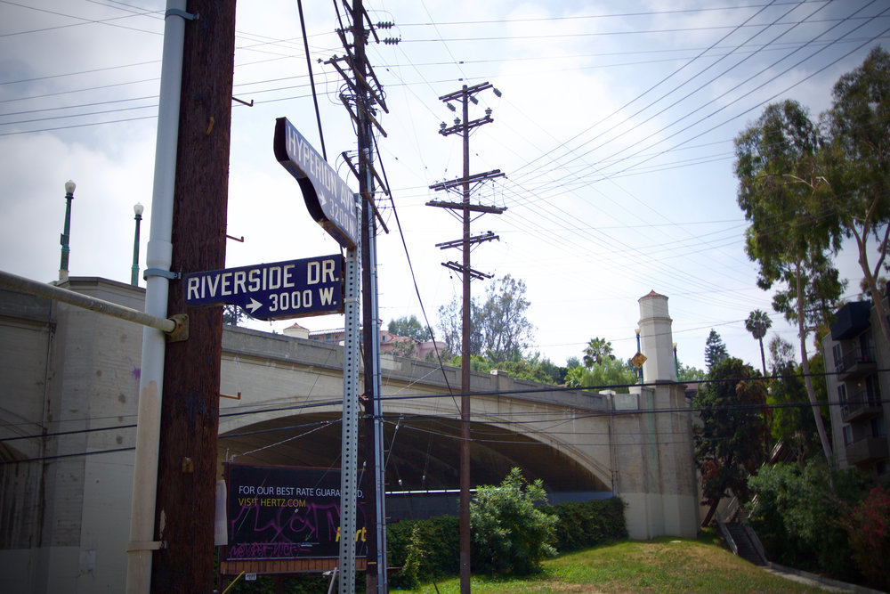 This location is perhaps very close to where the old Los Feliz Drive-in Theater once stood.
