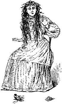 Artist's sketch of Betsy Bell