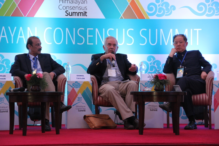Dr Taylor on a panel at the 2017  Himalayan Consensus Summit . Photo: Himalayan Consensus Summit Website.