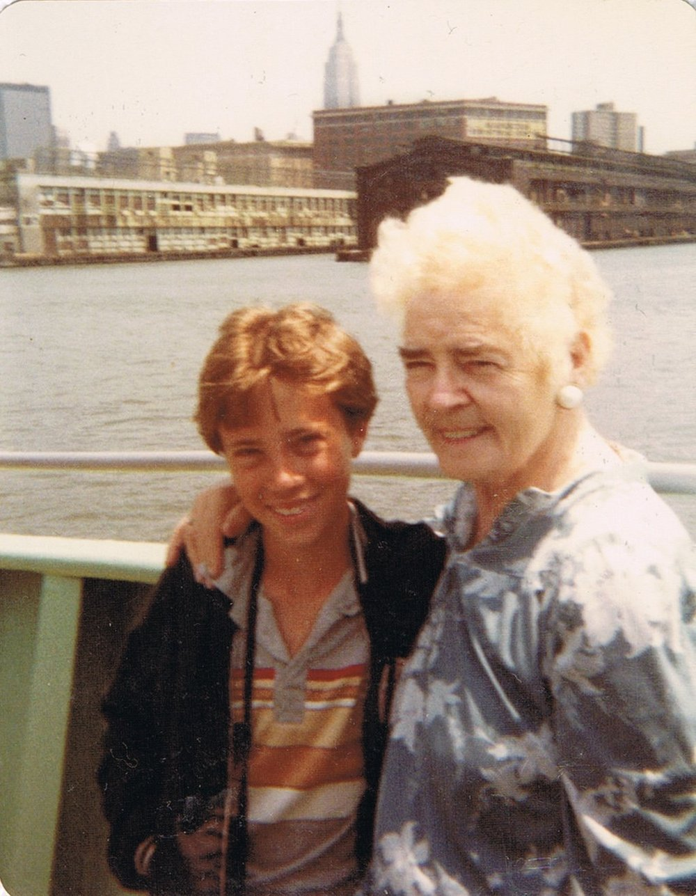 Marie's husband Paul, seen here with his grandmother in New York City, sometime in the 1980s.