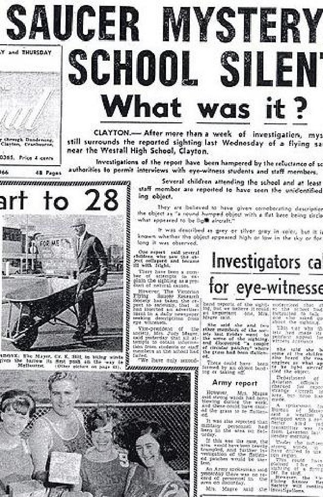 Westall Incident Newspaper