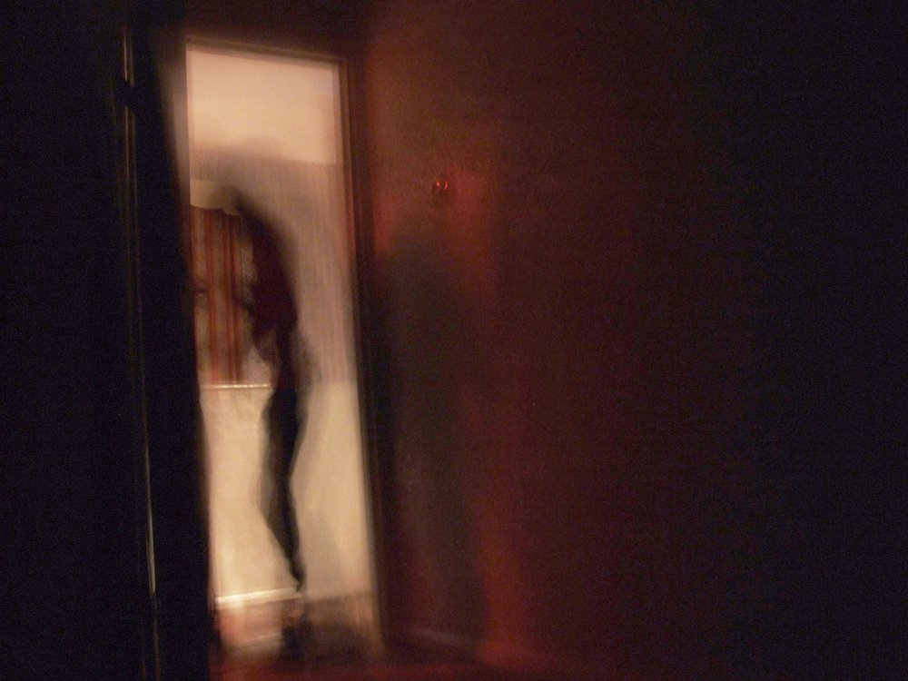 The Black Monk himself as seen from Phillip's bedroom or some other entity? One Medium who has examined the photo believes there is a spirit of a woman and also a dark entity that is perhaps not human. Photo from the  30 East Drive website , taken by visitor Andy E.